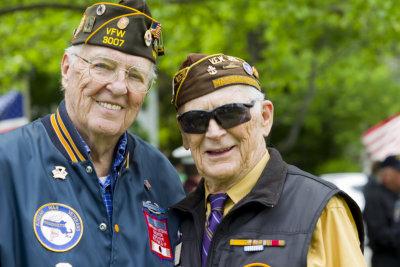 two veterans smiling